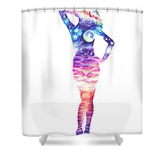 The Universe In Her Soul Shower Curtain
