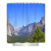 The Valley Of Inspiration-yosemite Shower Curtain
