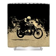 The Vintage Motorcycle Racer Shower Curtain