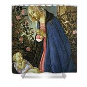 The Virgin Adoring The Sleeping Christ Child Shower Curtain