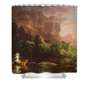 The Voyage Of Life Childhood, 1842 Shower Curtain