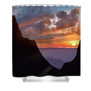 The Window At Sunset, Big Bend National Shower Curtain