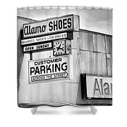 These Shoes Alamo Shoes Shower Curtain
