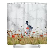 The Time Traveler  Shower Curtain