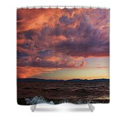 They Come In Waves  Shower Curtain by Sean Sarsfield