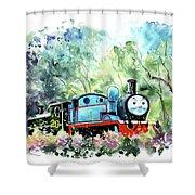 Thomas The Tank Engine In Buckfastleigh Shower Curtain
