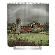 Threatening Skies Shower Curtain by Judy Hall-Folde