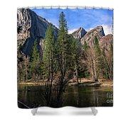 Three Brothers, Yosemite National Park Shower Curtain