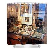 Through An Artists Window Shower Curtain