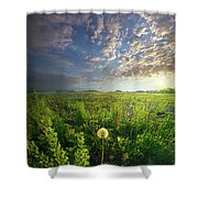 Through Strength Of Faith Shower Curtain