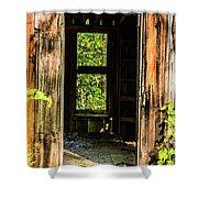 Through The Old Blacksmith Shop Shower Curtain