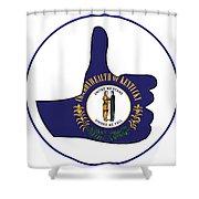 Thumbs Up Kentucky Shower Curtain