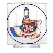 Thumbs Up Minnesota Shower Curtain
