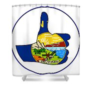 Thumbs Up Montana Shower Curtain