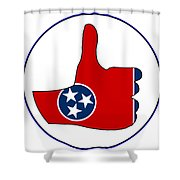 Thumbs Up Tennessee Shower Curtain