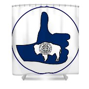 Thumbs Up Wyoming Shower Curtain