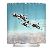 Thunder Over Nellis Shower Curtain