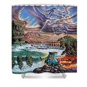 Thundering Gods Shower Curtain