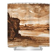 Tiber Landscape North Of Rome Wi  Shower Curtain