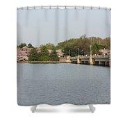 Tidal Basin Bridge Shower Curtain