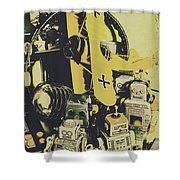 Tin Sign Toys Shower Curtain