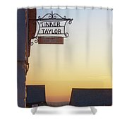 Tinker Taylor Sign Shower Curtain