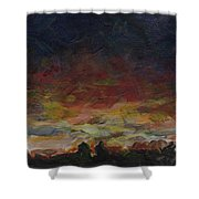 Tiny Sunset Shower Curtain