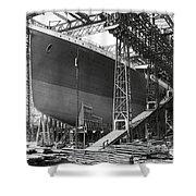 Titanic In Belfast Dry Dock 1911 Shower Curtain