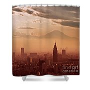 Tokyo And Mount Fuji Shower Curtain