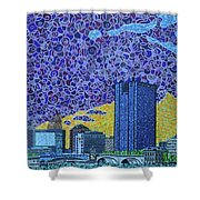 Toledo, Ohio Shower Curtain