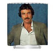 Tom Selleck, Actor Shower Curtain