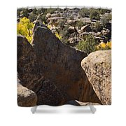 Top Of Rocks Above Canyon In Fall Shower Curtain