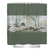 Top Quality Art - Cranes Pines And Bamboo Shower Curtain