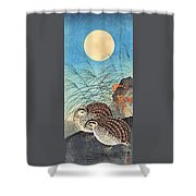 Top Quality Art - Moon And  Quail Shower Curtain