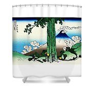 Top Quality Art - Mt,fuji36view-koshu Mishimagoe Shower Curtain