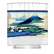 Top Quality Art - Mt,fuji36view-soshu Umezawanosho Shower Curtain