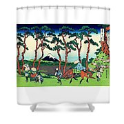 Top Quality Art - Tokaido Hodogaya Shower Curtain