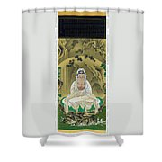 Top Quality Art - White Robed Kannon Shower Curtain