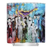Torah Dedication Alexandria 2 201905 Shower Curtain