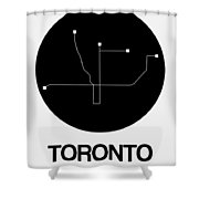 Toronto Black Subway Map Shower Curtain