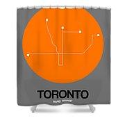 Toronto Orange Subway Map Shower Curtain