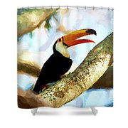 Toucan On A Tree Shower Curtain