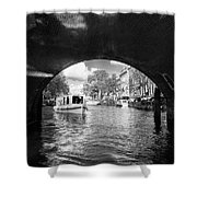 Tourboat On Amsterdam Canal Shower Curtain