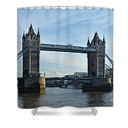 Tower Bridge At Afternoon In London Shower Curtain