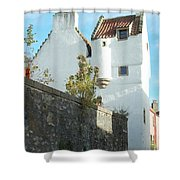 towerhouse and turret at Culross Shower Curtain