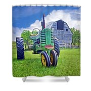 Tractor - On The Farm Shower Curtain