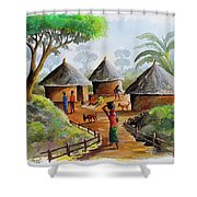 Traditional Village Shower Curtain