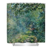 Trail In The Woods Shower Curtain