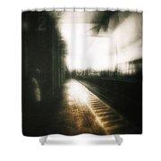 Train To The Fourth Dimension Shower Curtain