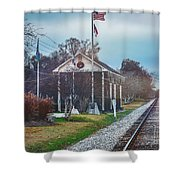 Train Tracks To Old Town Shower Curtain